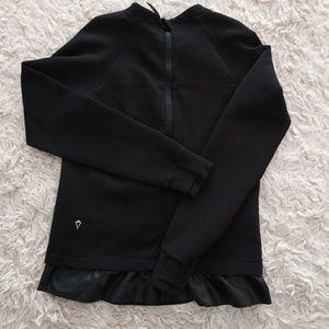 Ivivva Girls Black Ruffle Sweater 14